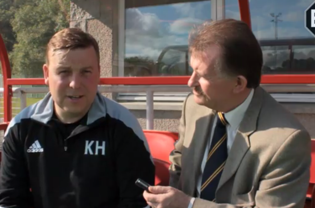 Formartine boss Kris Hunter is interviewed by Dave Edwards