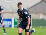 Stewart Murdoch in action during the Staggies' friendly against Nairn County