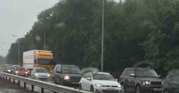 Traffic chaos in Bridge of Don