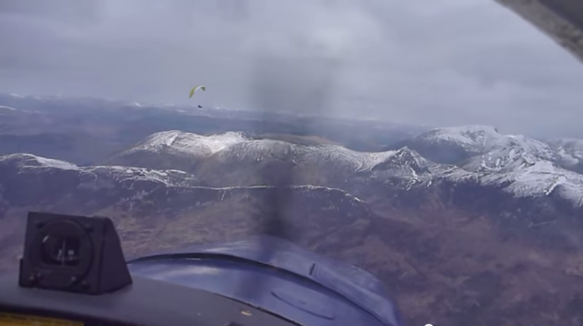 The near miss took place at 4,400 feet in the skies above Ben Nevis