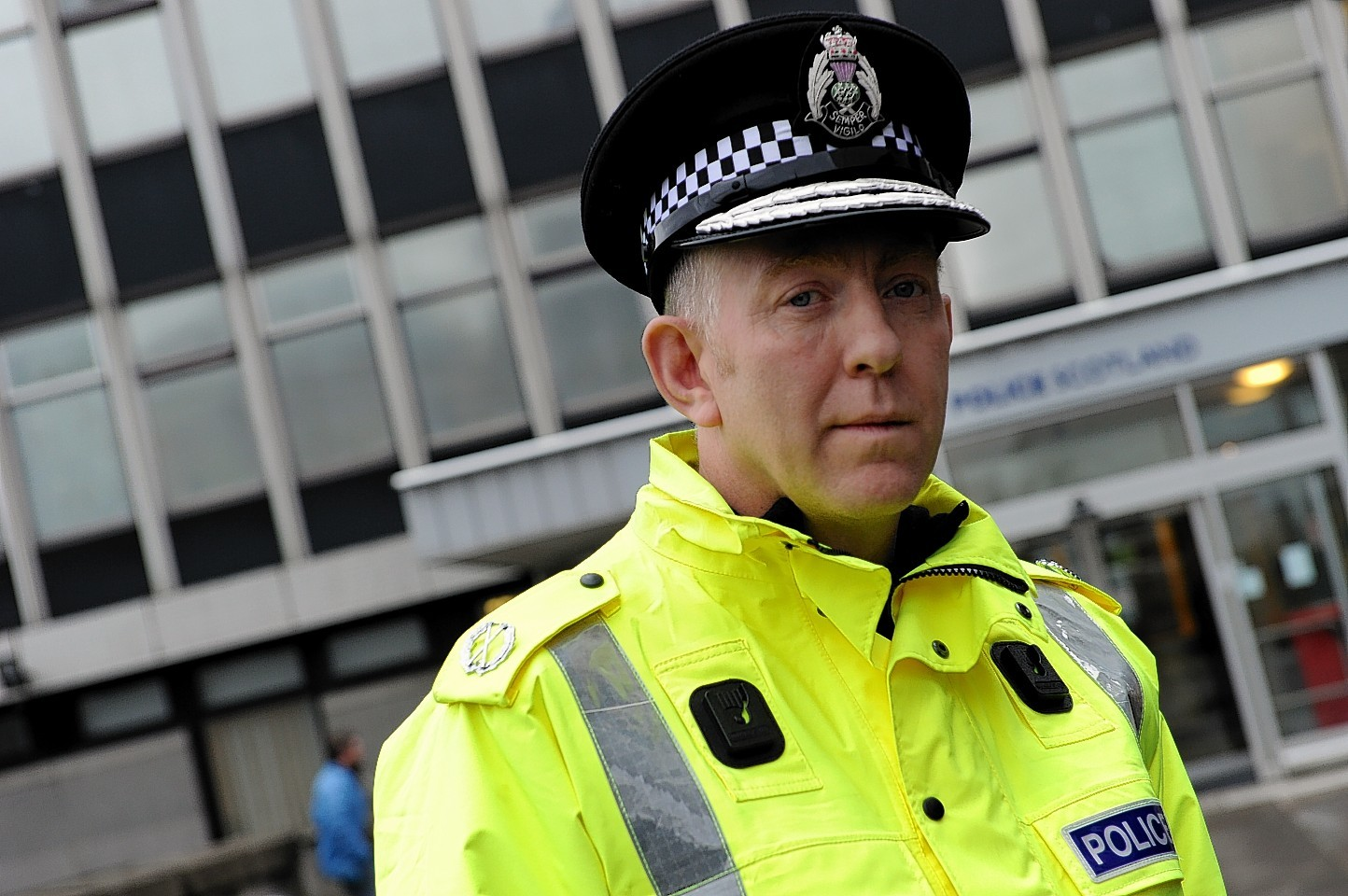 Assistant Chief Constable Campbell Thomson outside the divisional headquarters.   Picture by Kami Thomson