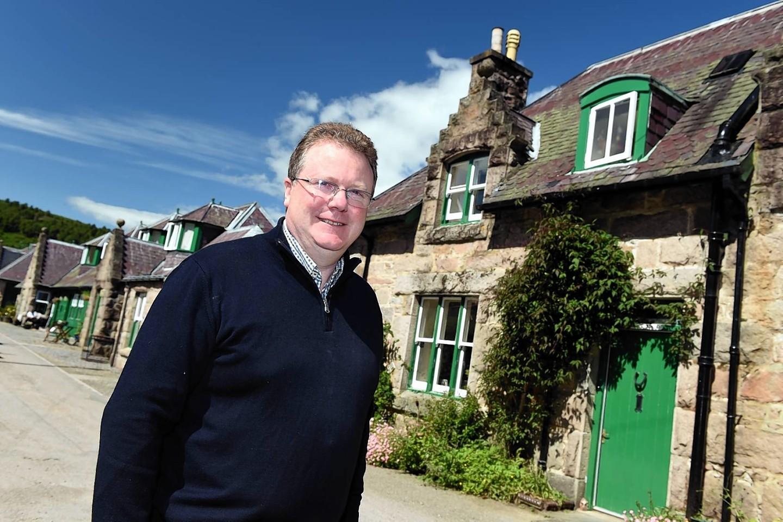 Glen Tanar estate owner Michael Bruce. Picture by Kevin Emslie