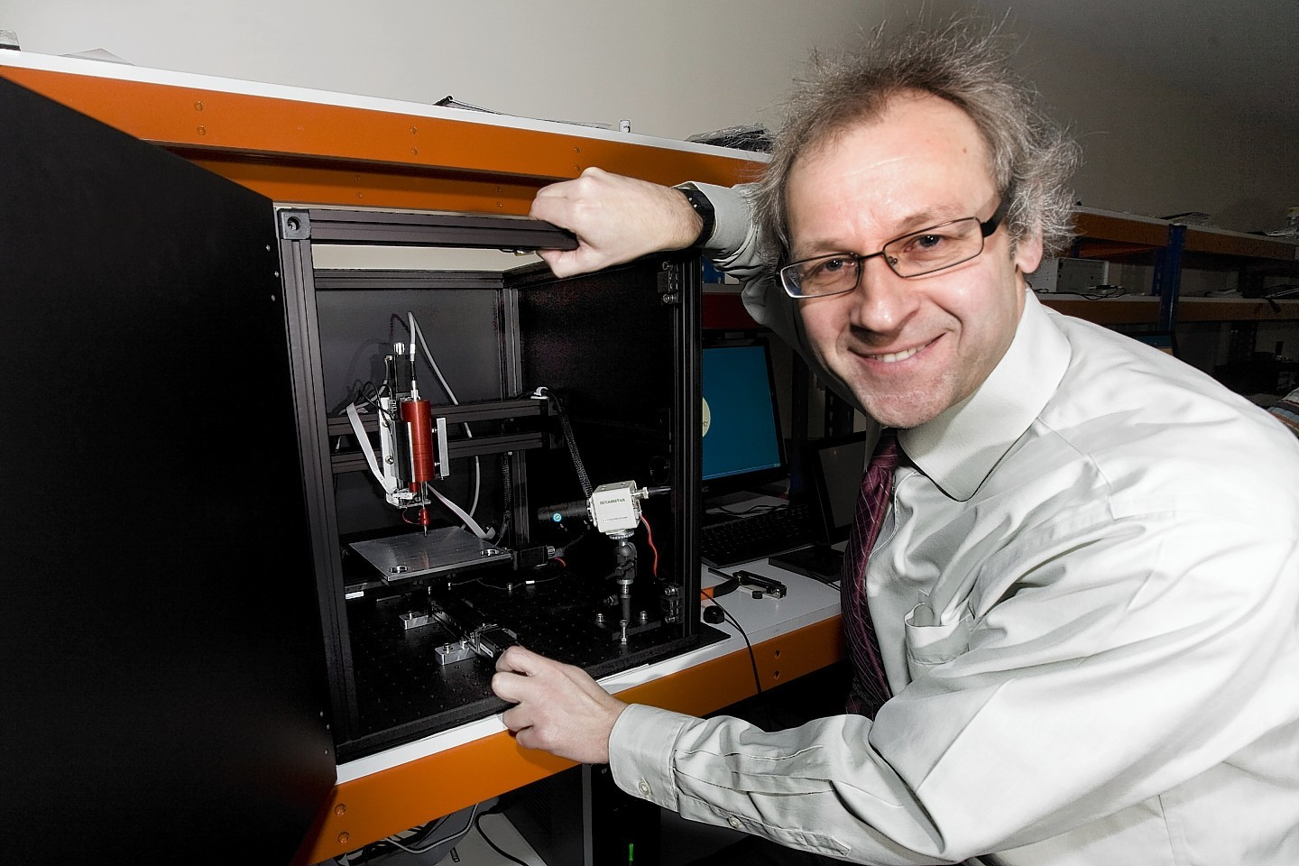 Professor Iain Baikie ceo of KP Technology, Wick, with one of the company's products.