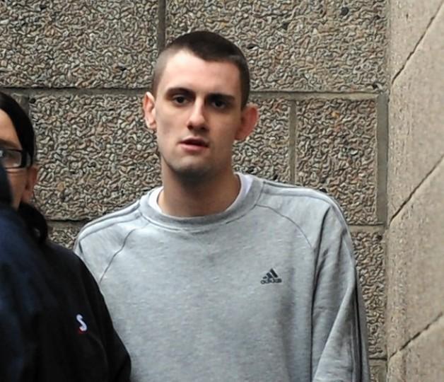 Josh Birnie leaving court