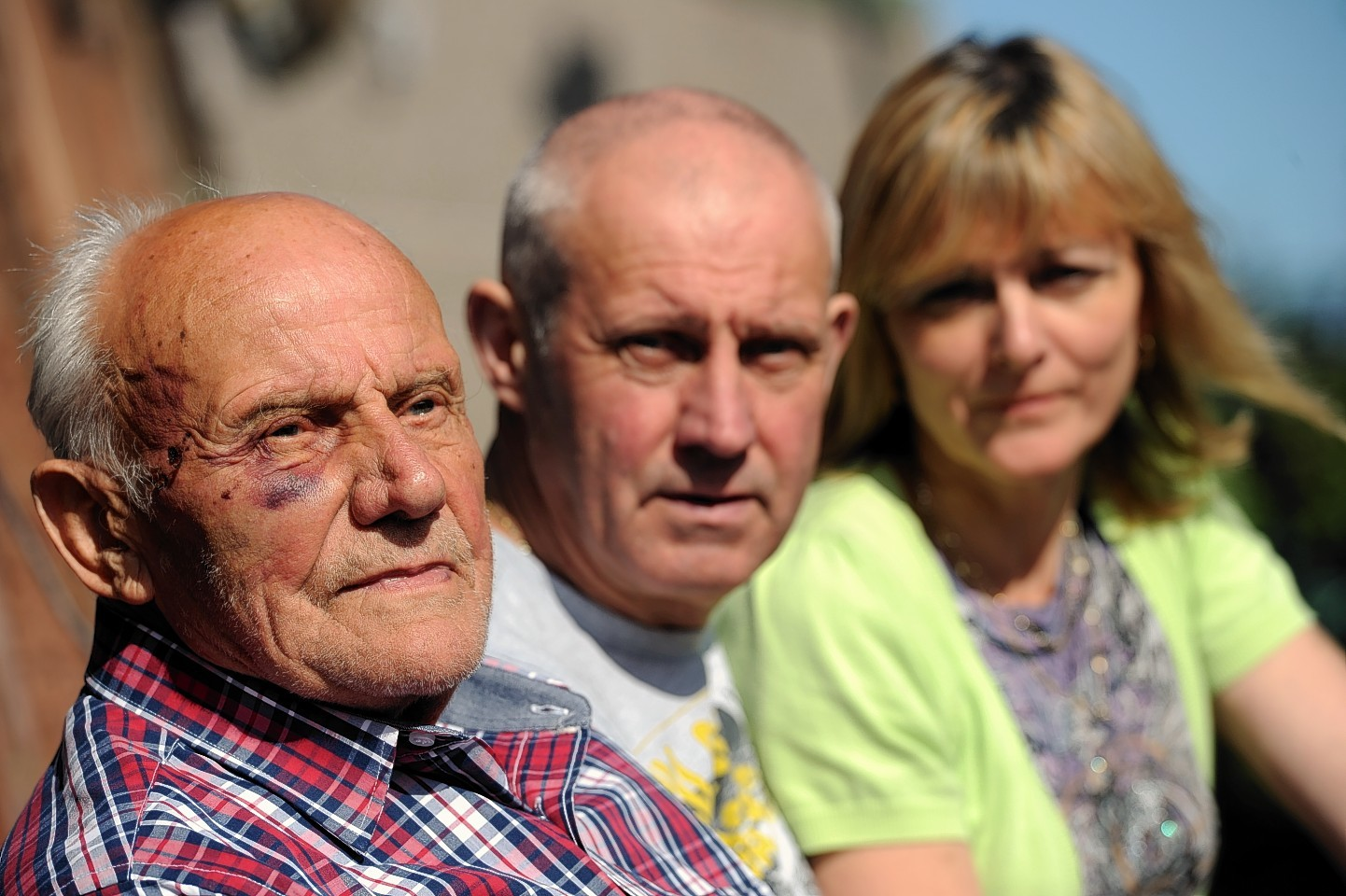 Gerhard Kolarczyk with his son Gary and daughter-in-law Alison after the 2012 accident near Rannoch