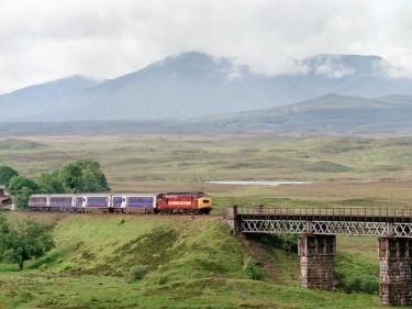 The scenic railway line near Fort Wiliam