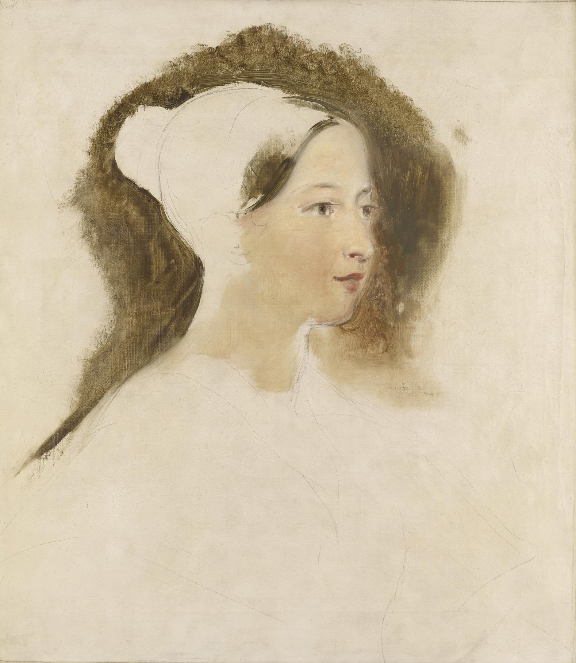 Sir David Wilkie's preparatory oil sketch of Queen Victoria, 1837