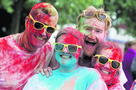 Around 1,000 participants of all ages got messy for a good cause at Run for Colour