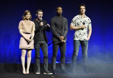 The Fantastic Four: Kate Mara, Jamie Bell, Michael B. Jordan and Miles Teller