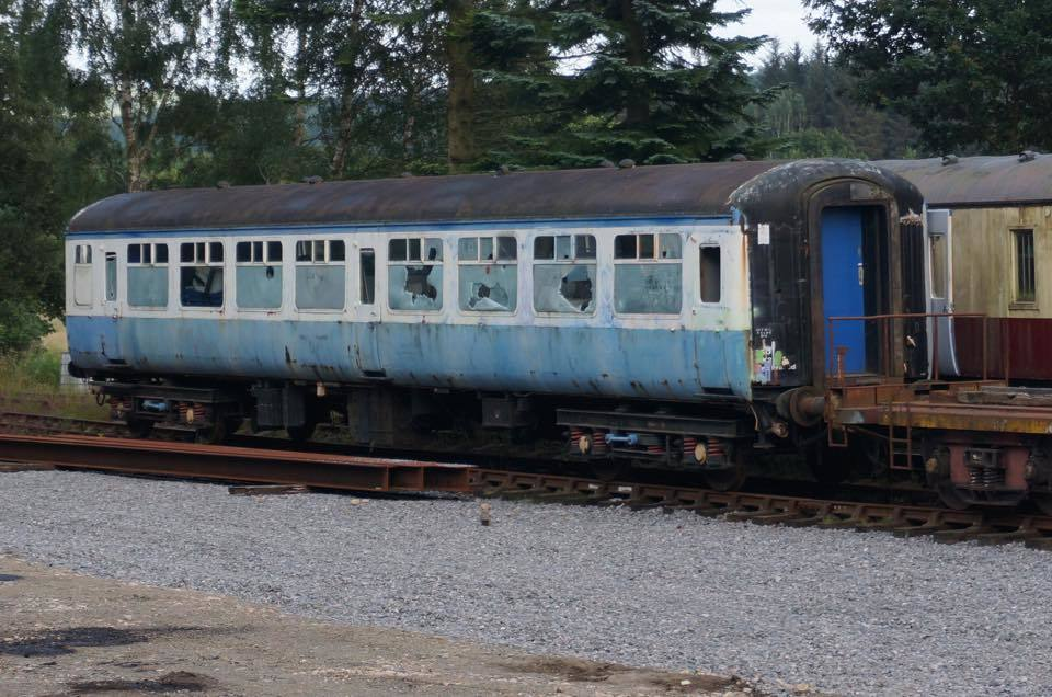 Police are investigating after thugs used bricks and stones to smash the windows of a 1950s-era carriage at Crathes