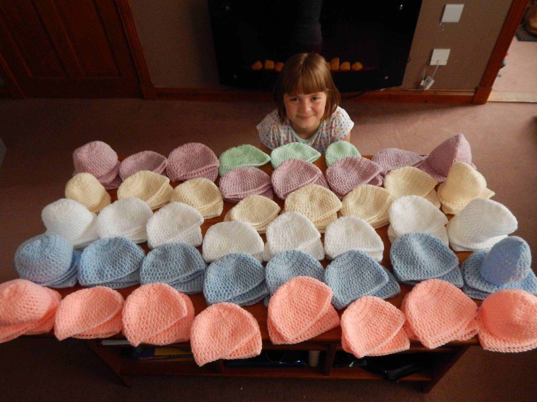 Chloe Milne spent countless hours over the holidays knitting the tiny garments for infants in Dr Gray's Hospital in Elgin