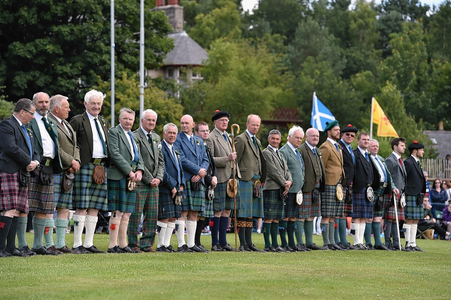 Aboyne Highland Games - Opening ceremony. Picture by COLIN RENNIE