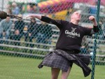 Greig Walker competing in the Aboyne Highland Games