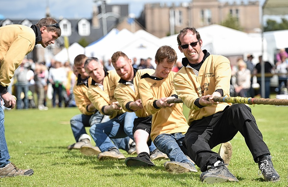Aboyne Highland Games - Tug of War - Cornhill from Banff. Picture by COLIN RENNIE