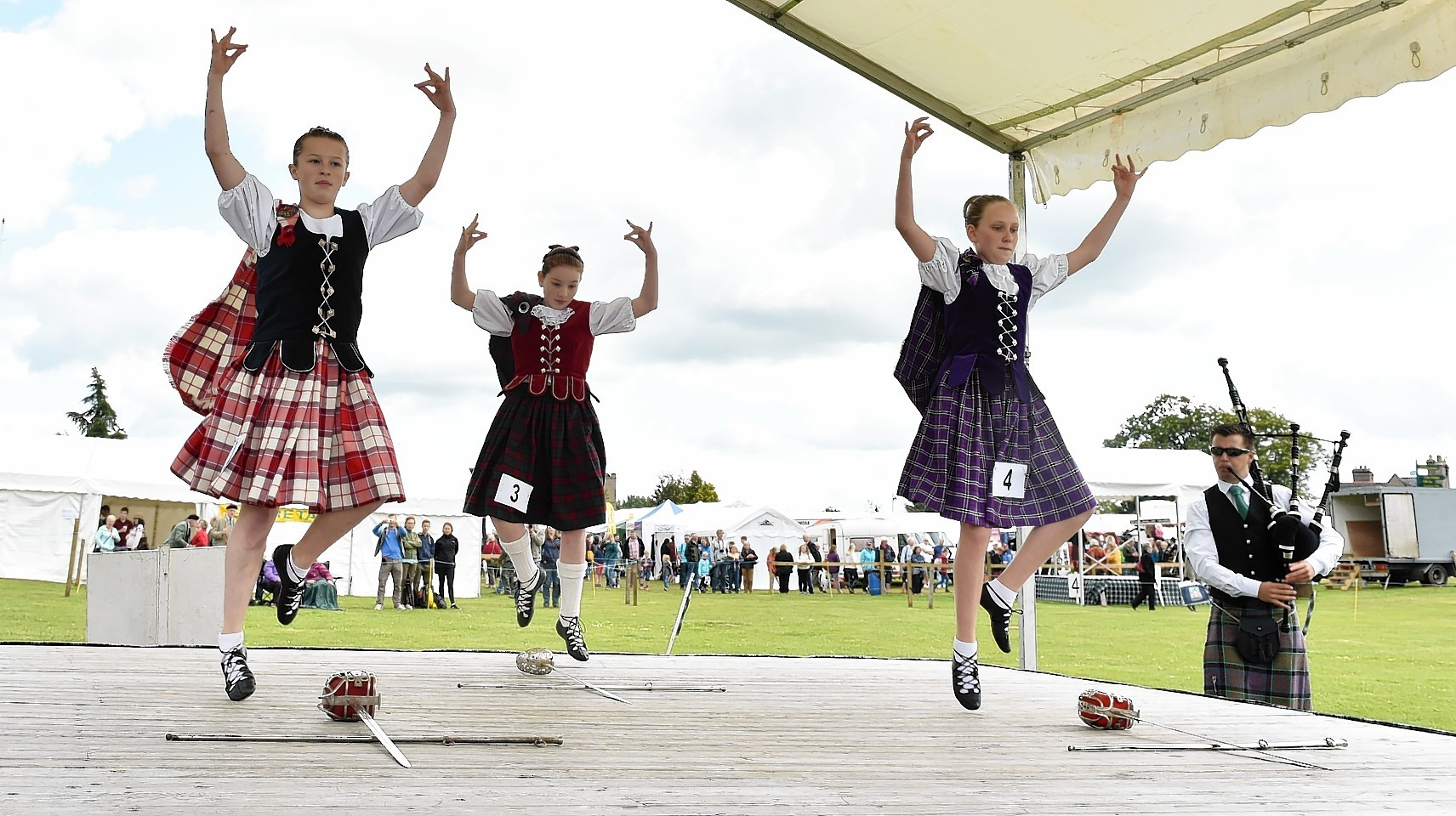 Aboyne Highland Games - Dancers compete. Picture by COLIN RENNIE