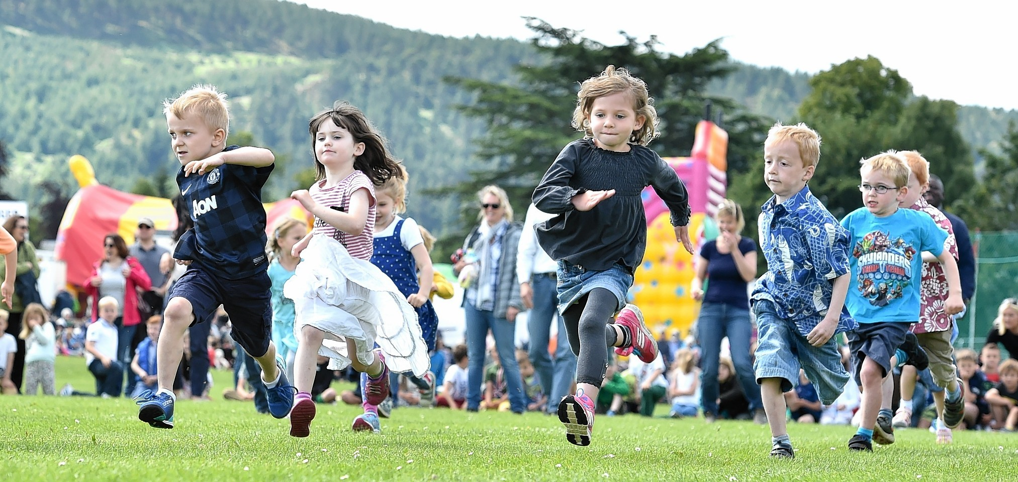 Aboyne Highland Games - The children's race. Picture by COLIN RENNIE