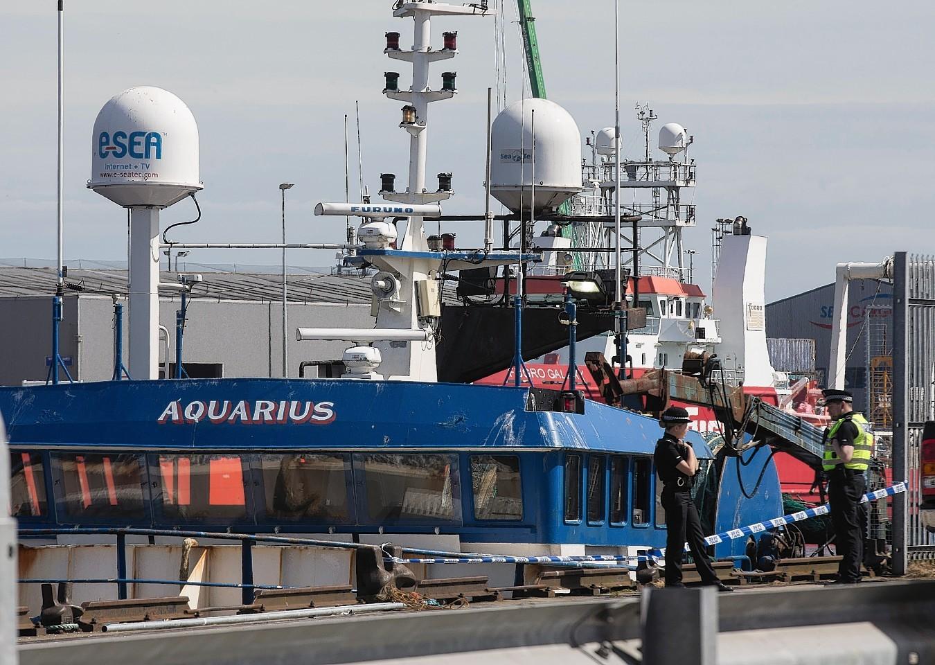 The Aquarius at Aberdeen Harbour