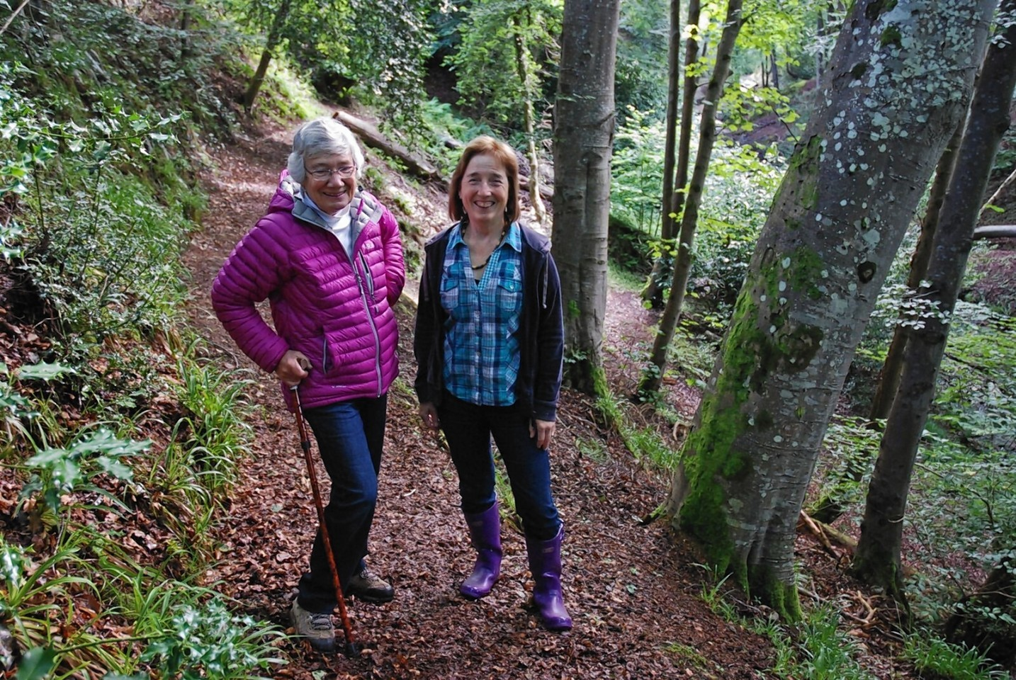 Aithne Barron, owner of the woodland, and Gina O'Brien, chairman of the trustees eager to bring the woodland into community ownership.