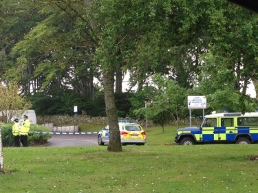 Police at the scene in Kingswells. Picture by Kim McAllister @KimMcallister