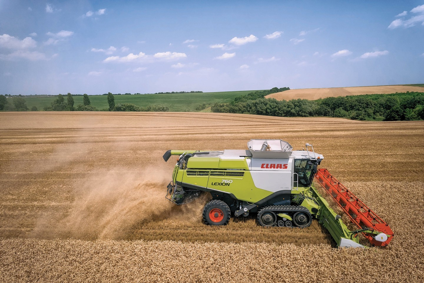 The Claas Lexion 700 in action