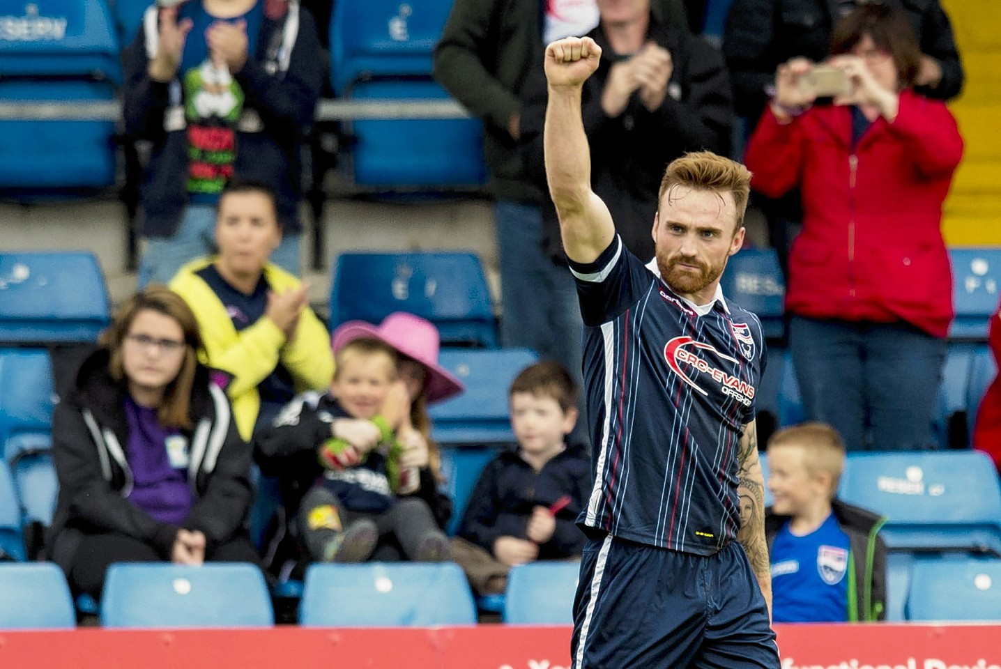 Ross County forward Craig Curran.