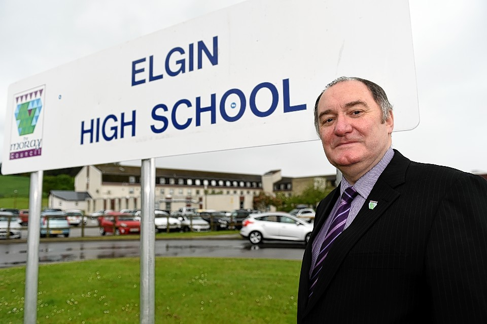Councillor John Divers by Elgin High School