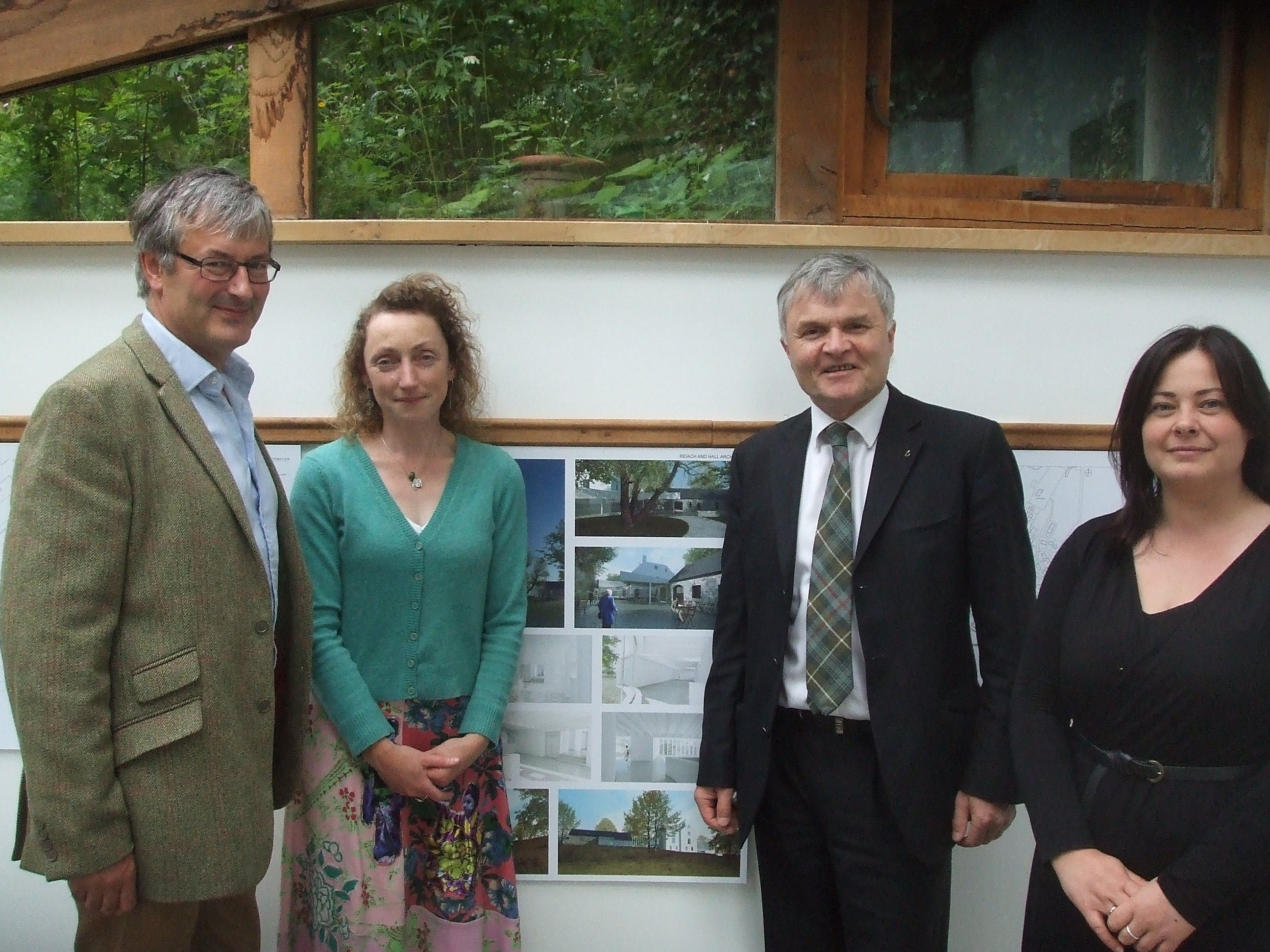 Mike Mackenzie with Dr Sharon Webb and colleagues at Kilmartin Museum