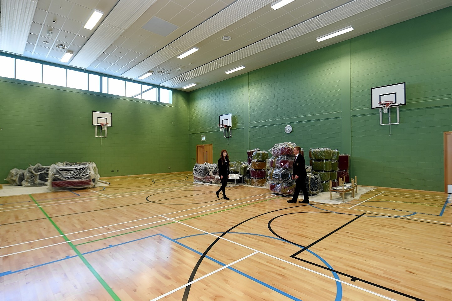 One if the gymnasiums of the new Ellon Academy. Picture: Kevin Emslie.