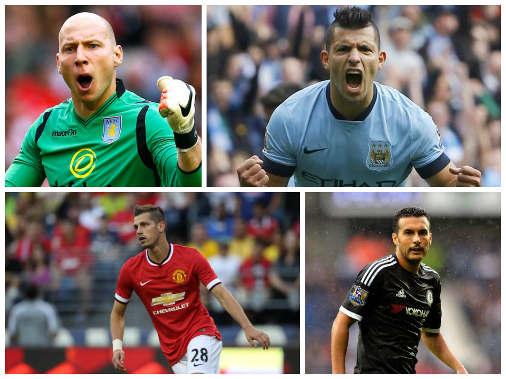 Guzan, Aguero, Schneiderlin and Pedro all make this week's team