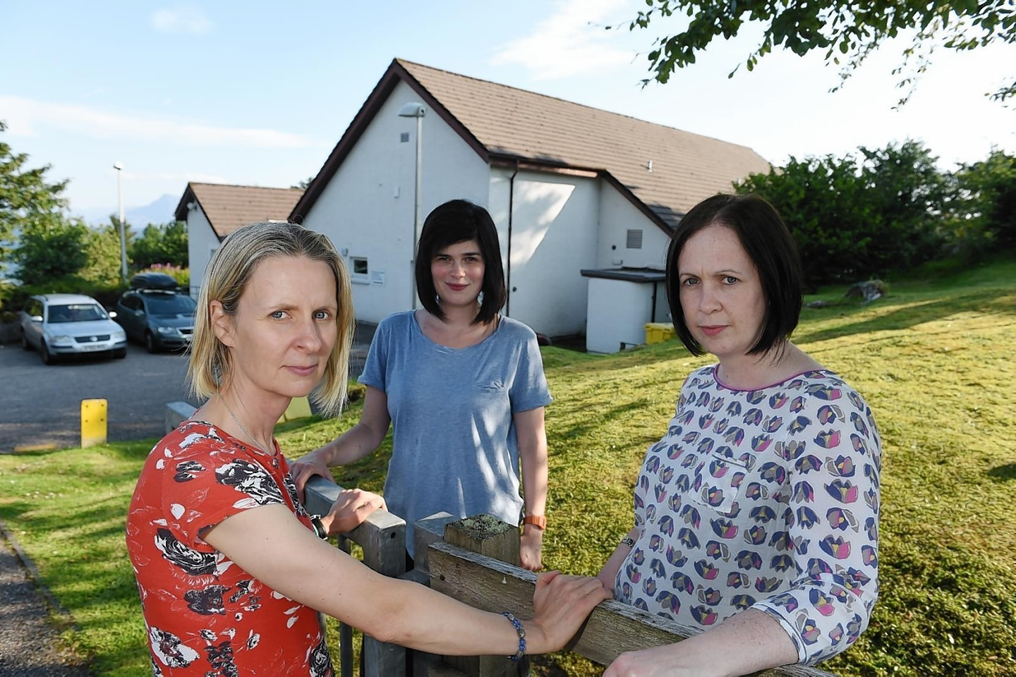 Fiona Hanson, Chairperson of the School Parent Council, Emma Micski, Secretary and Sarah Jane Campbell, Tresasurer, have raised their concerns over the school cuts