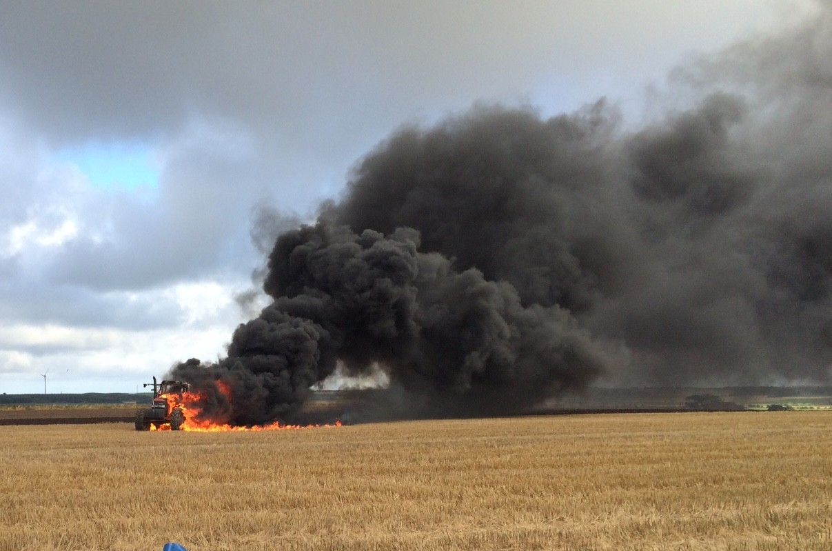 The tractor fire at Rora