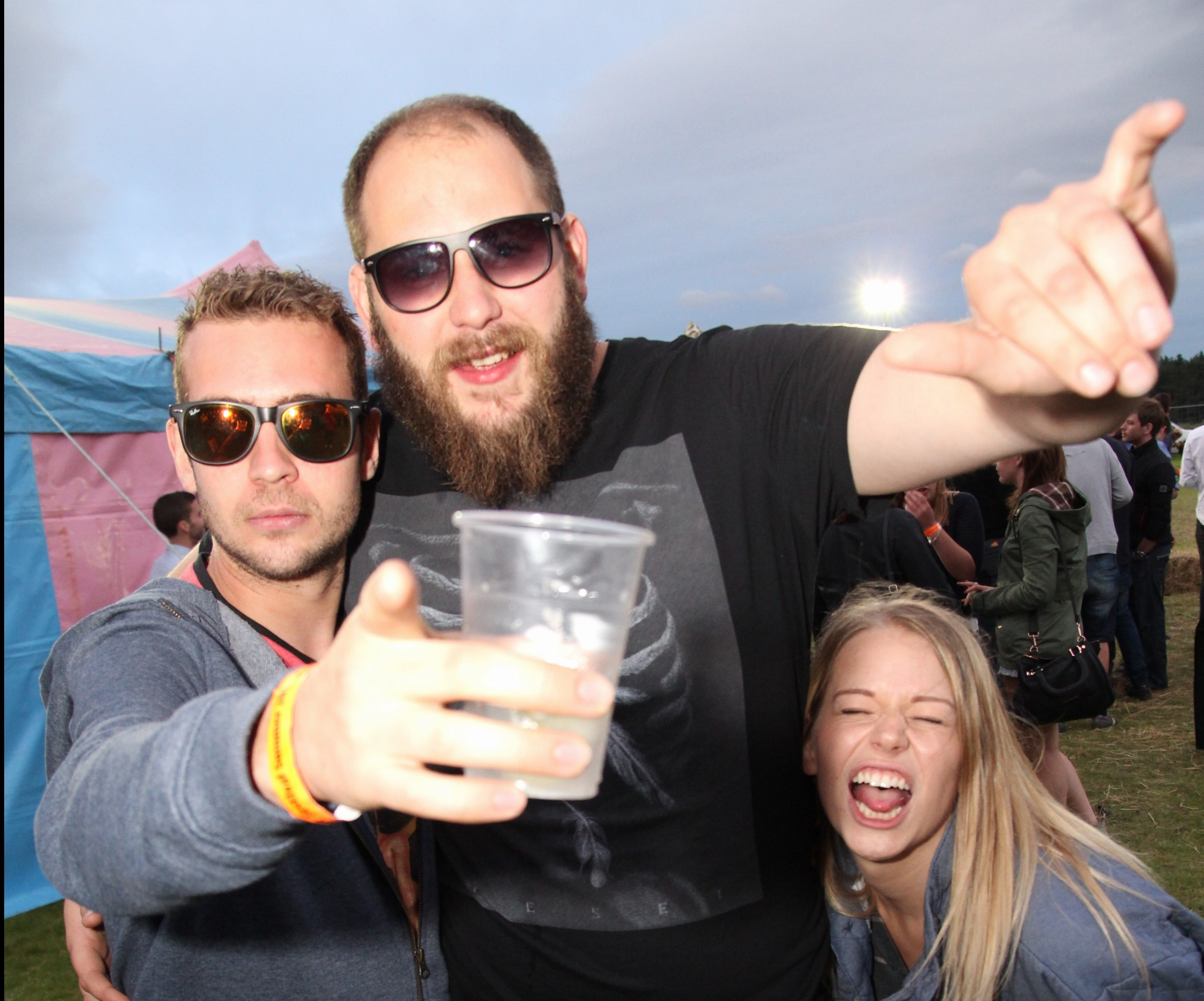 Revelers enjoying this year's Banchory Beer Festival. Picture: Nicol Rosie.