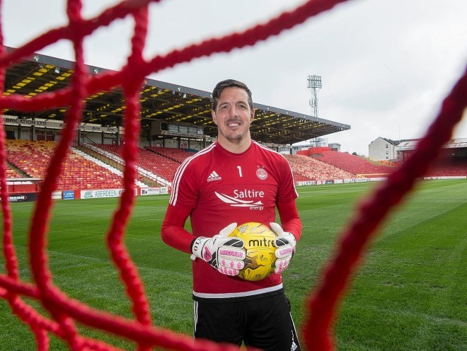 Jamie Langfield has been released from his Dons contract.