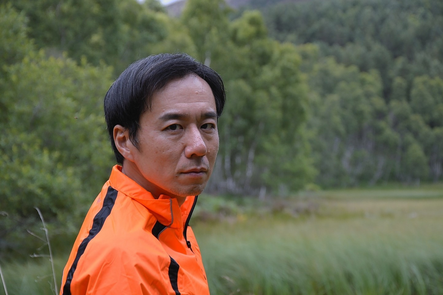 Award-winning actor Junichi Kajioka on the set of Dark Highlands