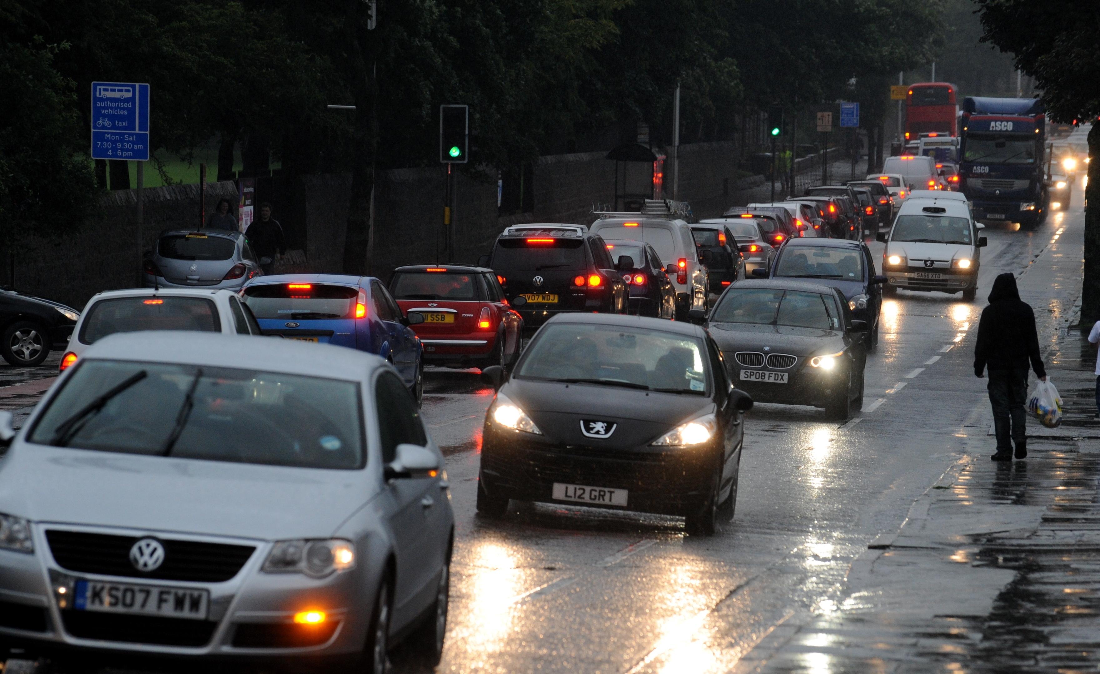 Traffic on Aberdeen's King Street