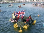 The Annual Lossiemouth Raft Race.
