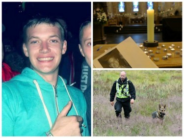 The search is continuing for missing Lachlan Simpson, while  a packed congregation at Dornoch Cathedral prayed for the missing 22-year-old