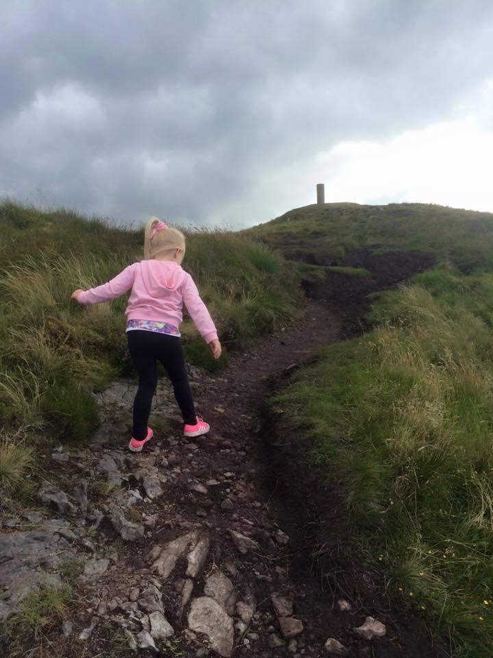 Laila climbs Beinn Lora