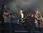 Stopover Festival headline act Mumford and Sons on stage in Aviemore