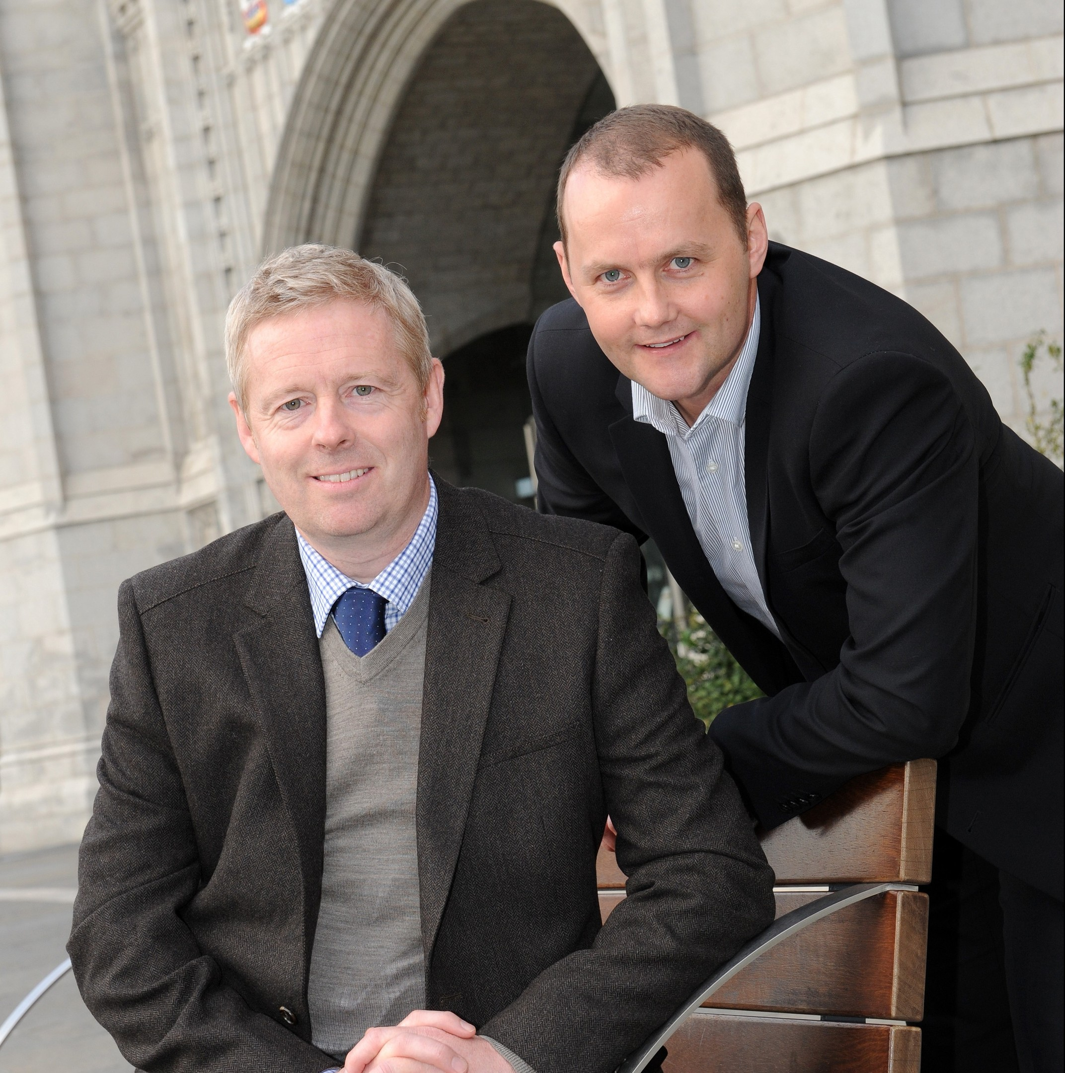 Rory McEwan, left, and Wayne Mackay, directors of Orca, which has been taken over by telecoms firm Arrow.