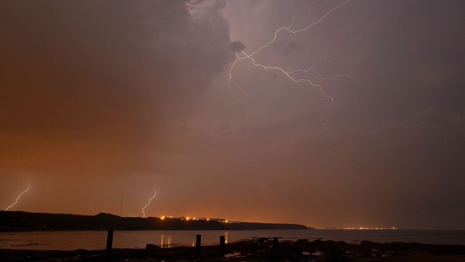 Thunderstorms are forecast across the north and north-east of Scotland.