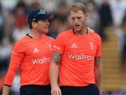 Ben Stokes, right, was praised by his captain