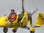 Gyrocopter pilot Norman Surplus has picked up nine records during his journey