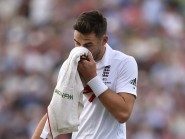 James Anderson was unable to toast England's win at Edgbaston