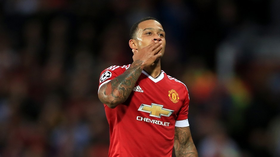 Memphis Depay scored twice as Manchester United beat Club Brugge on Tuesday night