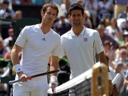 Andy Murray, left, and Novak Djokovic will meet in the final in Montreal