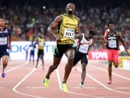 Usain Bolt made it a World Championship hat-trick on Saturday