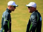 Australia coach Darren Lehmann, right, is supporting captain Michael Clarke, left, despite a lack of form