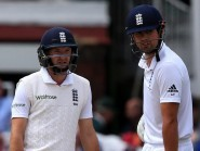 Adam Lyth, left, was the sixth opening partner Alastair Cook, right, has had since Andrew Strauss retired