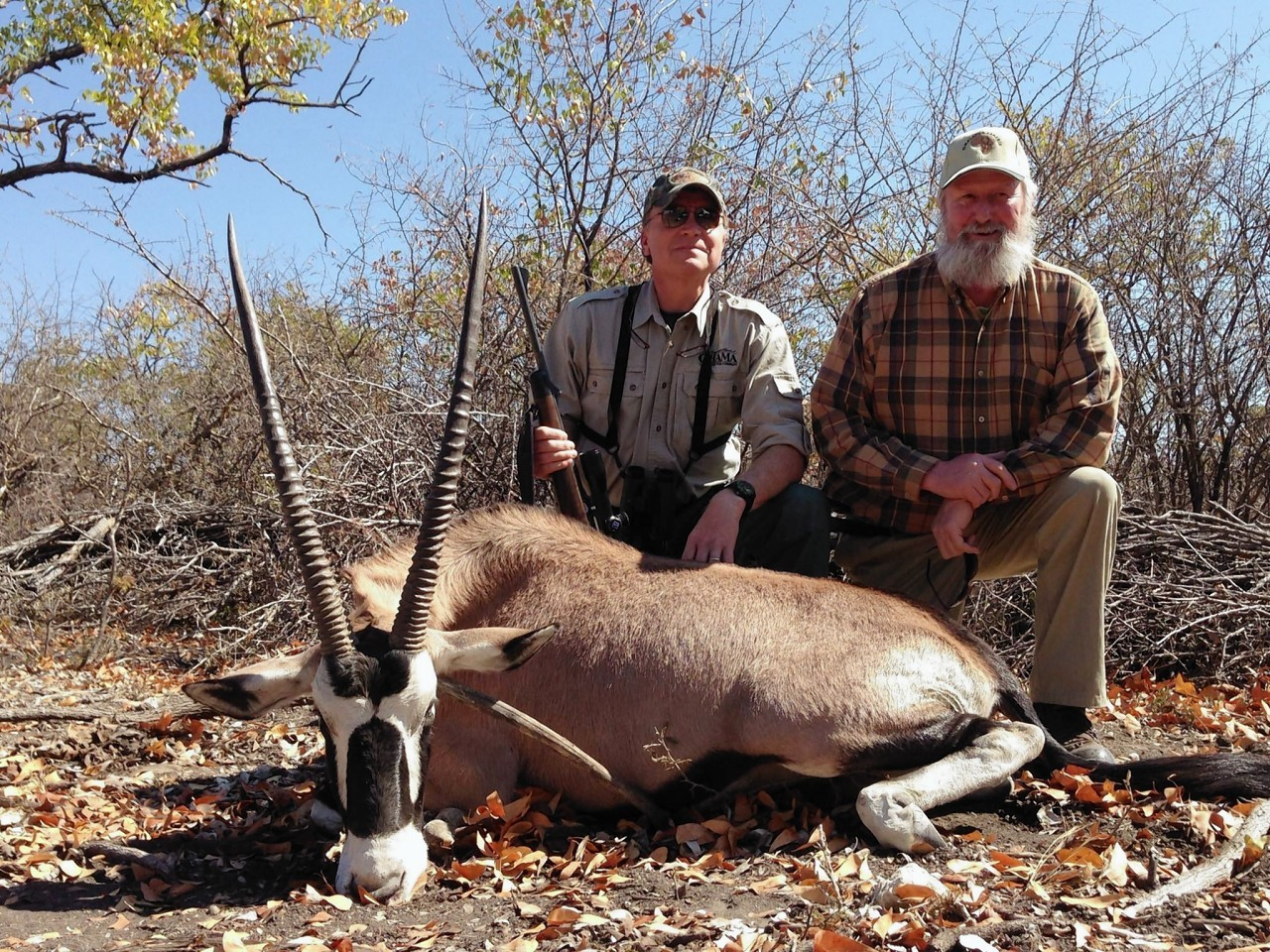 Peter Swales (right) on a hunt in Africa